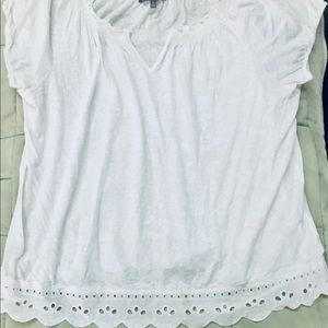 Thin, White Top with Lacy Bottom!